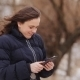 Woman On The Tablet  In Winter Park - VideoHive Item for Sale