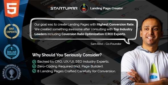 Startuprr – Multi-Purpose Landing Page Html Template