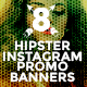 8 Hipster Instagram Promotional Banners - GraphicRiver Item for Sale