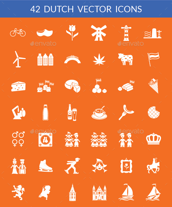 42 Dutch Vector Icons - Miscellaneous Icons