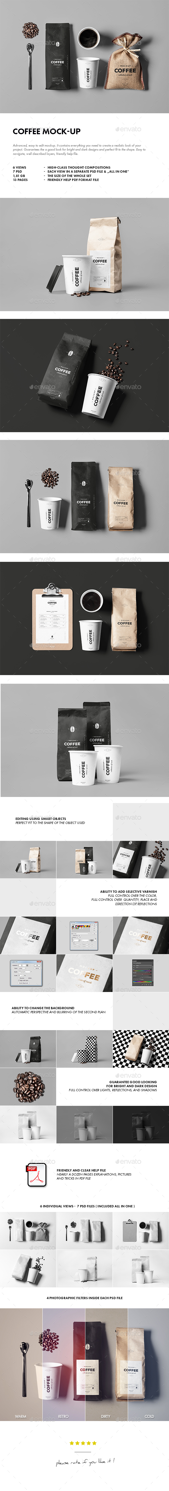 Coffee Mock-up - Food and Drink Packaging