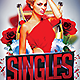 Singles Night Flyer Template - GraphicRiver Item for Sale