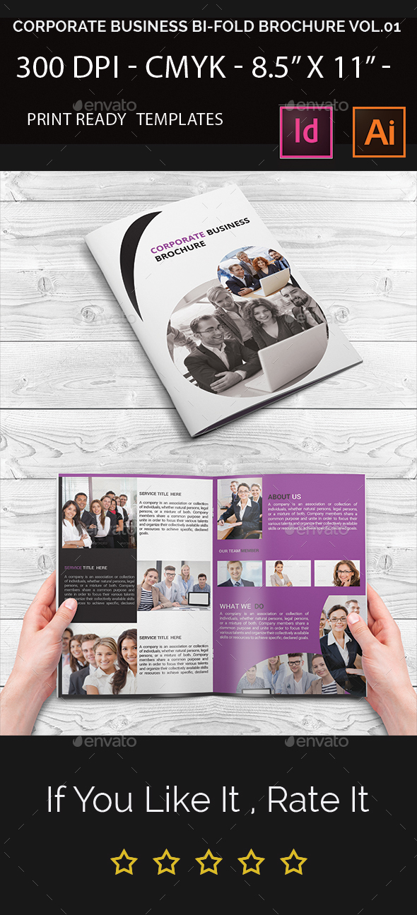 Corporate Business Bi-Fold Brochure - Corporate Brochures