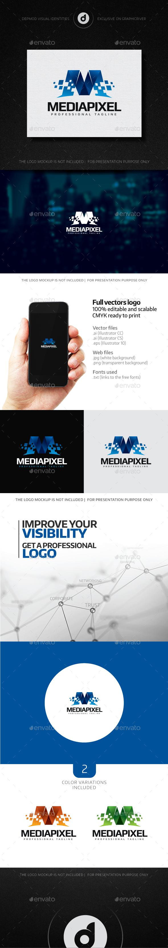 Media Pixel Logo - Letters Logo Templates