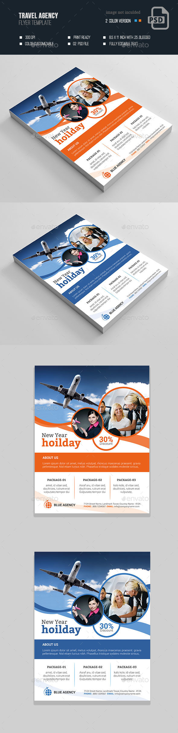 Travel Agency Flyer - Flyers Print Templates