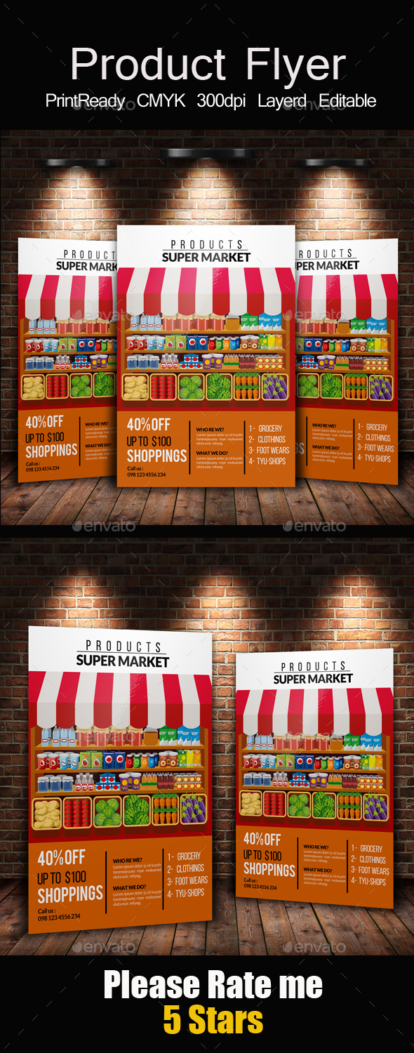 Product & Supermarket  Promotion Flyer - Corporate Flyers