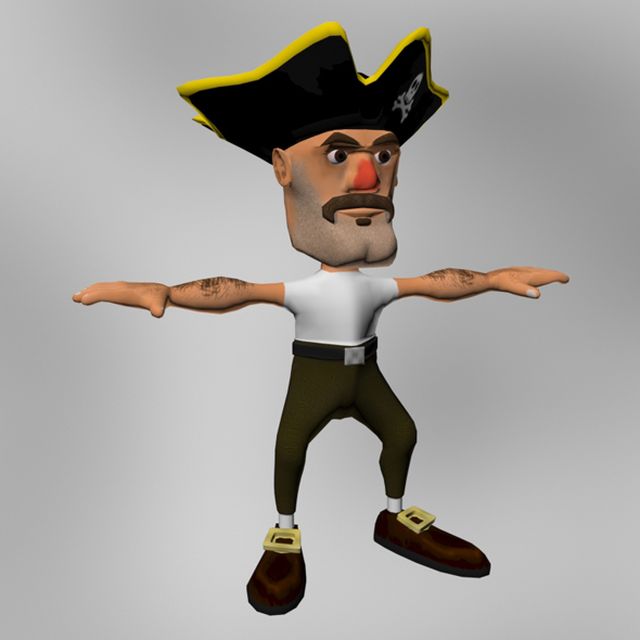 Cartoony Pirate Model  - 3DOcean Item for Sale