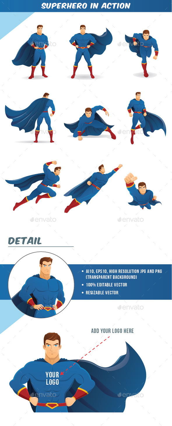 Superhero in Action - People Characters