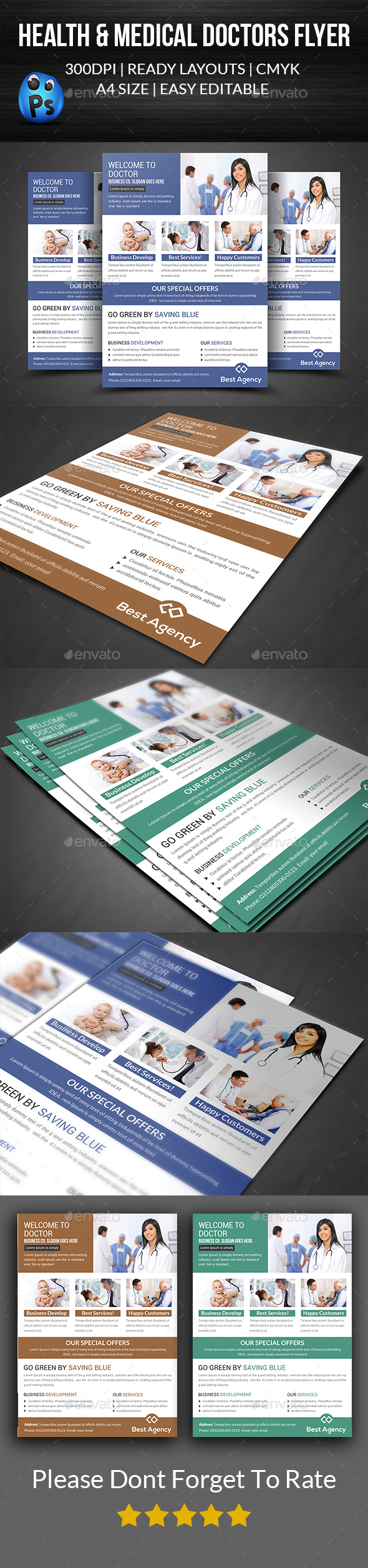 Doctor Flyer Template - Corporate Flyers