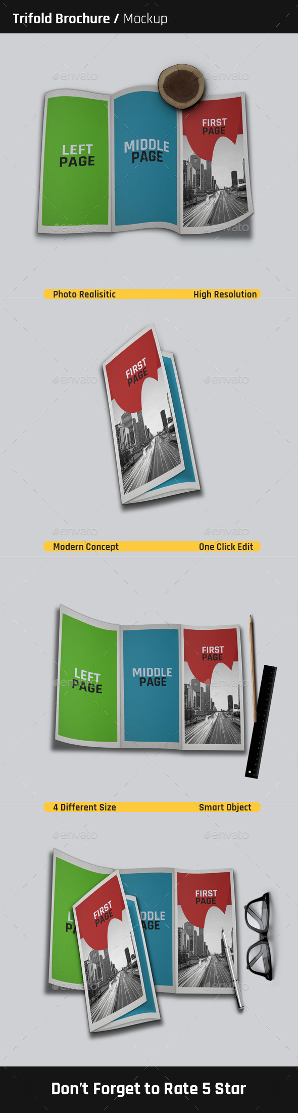 Trifold Brochure Mock-Ups  - Brochures Print