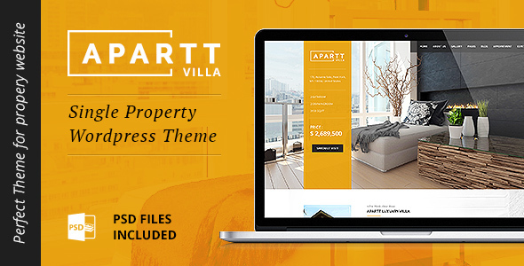 APARTT VILLA – Single Property Real Estate WordPress Theme