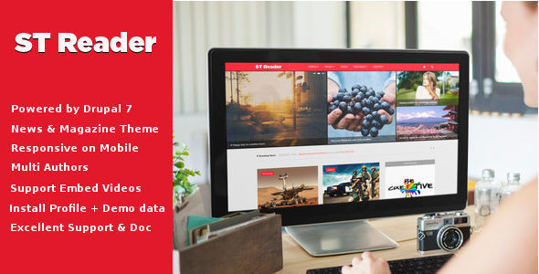 Reader – News & Magazine Drupal Theme