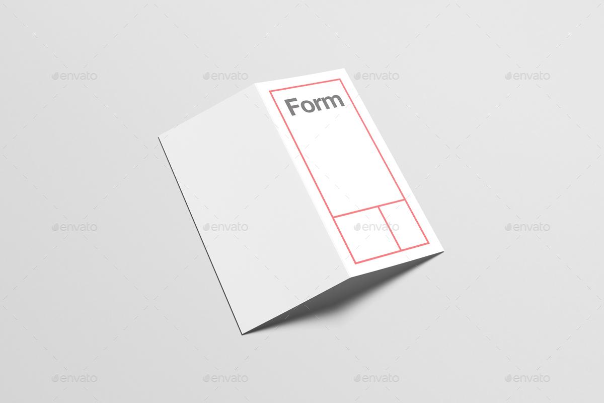 DL Bi-Fold / Half-Fold Brochure Mock-Up by Zeisla | GraphicRiver