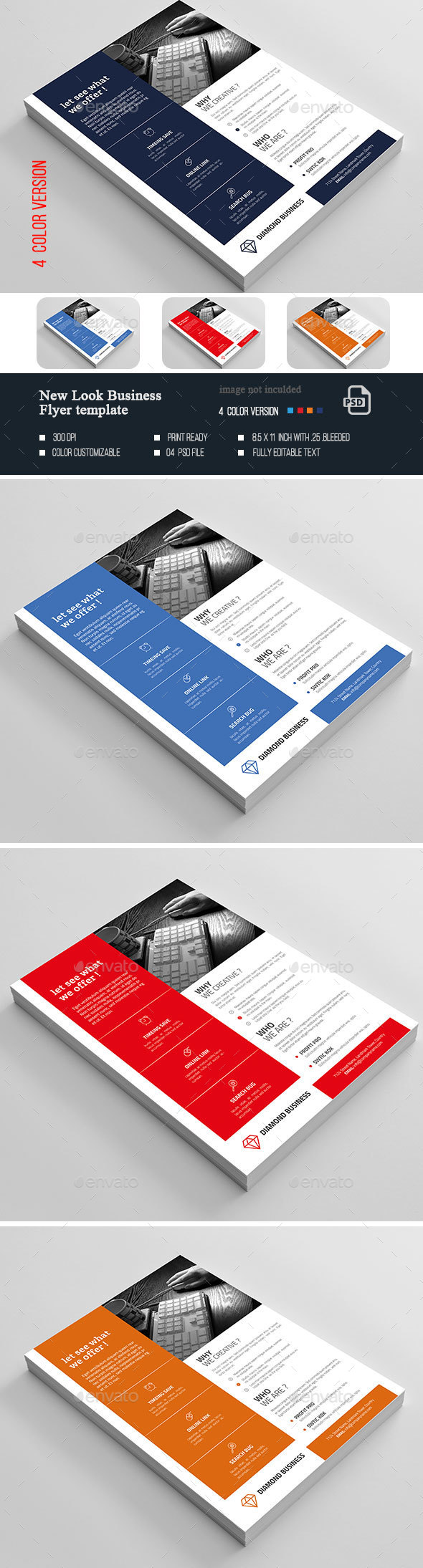 New Look Business Flyer - Flyers Print Templates