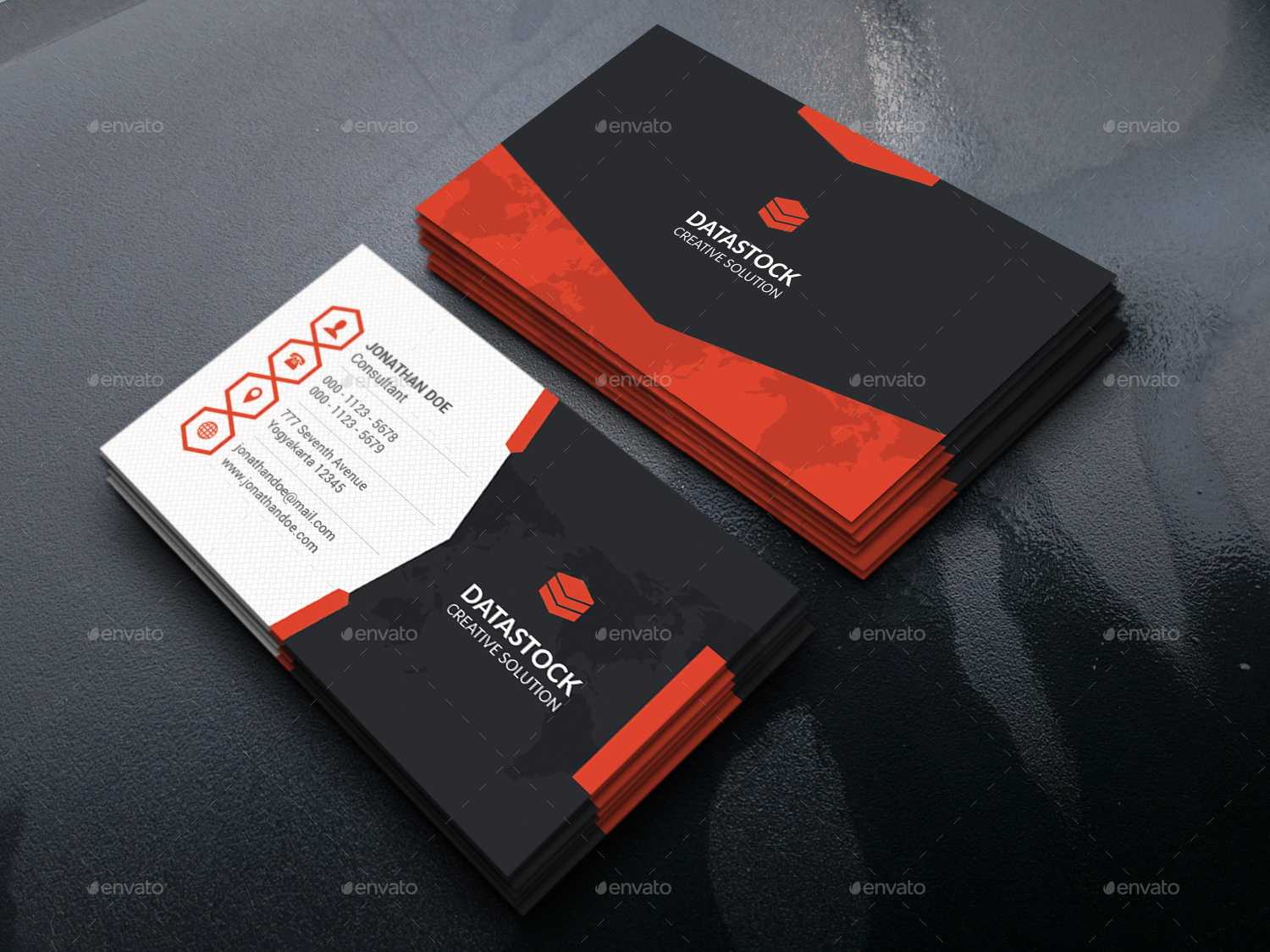 Polygon business card by gowes graphicriver polygon business card reheart Gallery