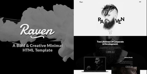 Raven – Minimal Creative HTML Template