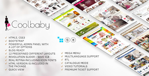 Download Coolbaby - CS-Cart theme nulled version