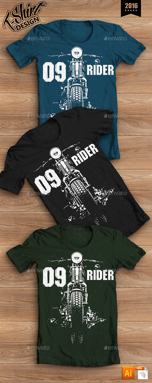 T-shirt Design Moto Rider - Sports & Teams T-Shirts