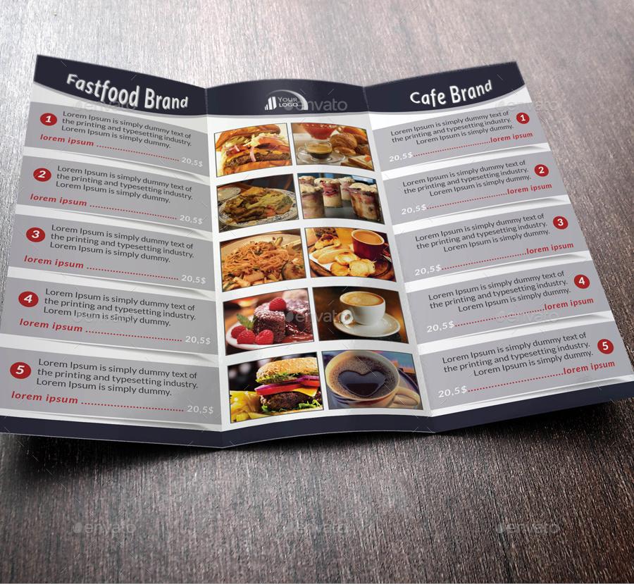 3 fold menu 3 fold menu