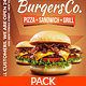 American Burgers Food Menu Pack