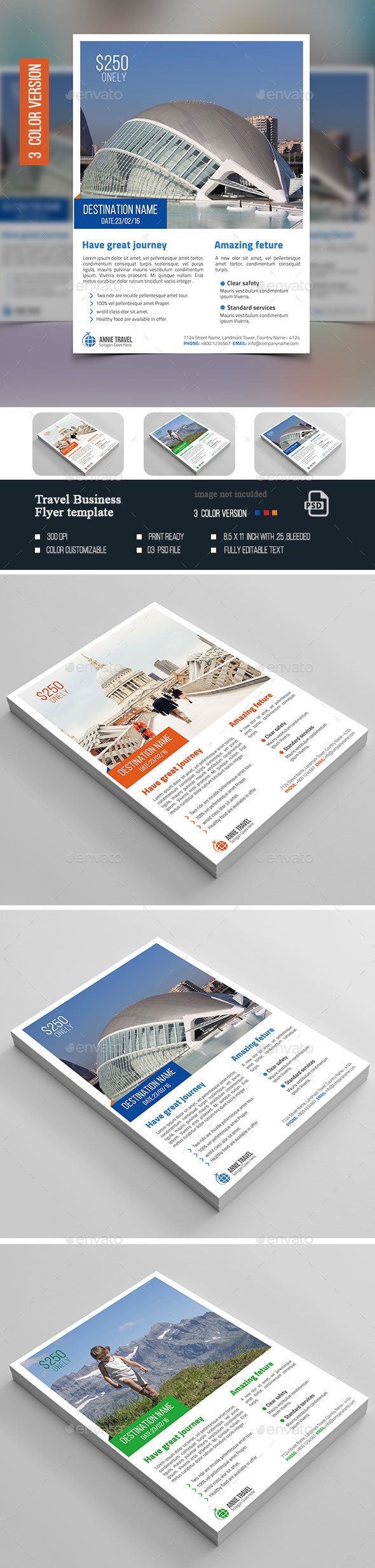 Travel Business Flyer  - Flyers Print Templates