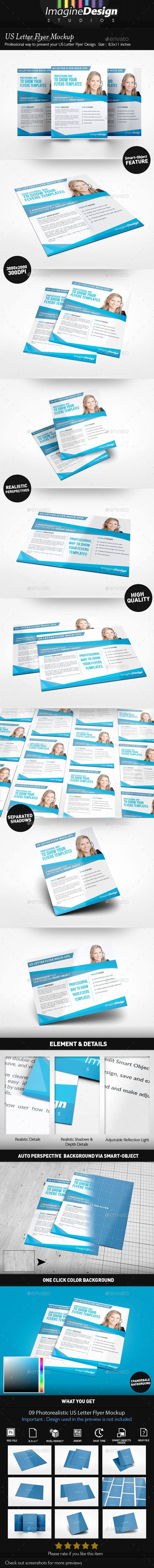 Us Letter Flyer Mockup - Flyers Print