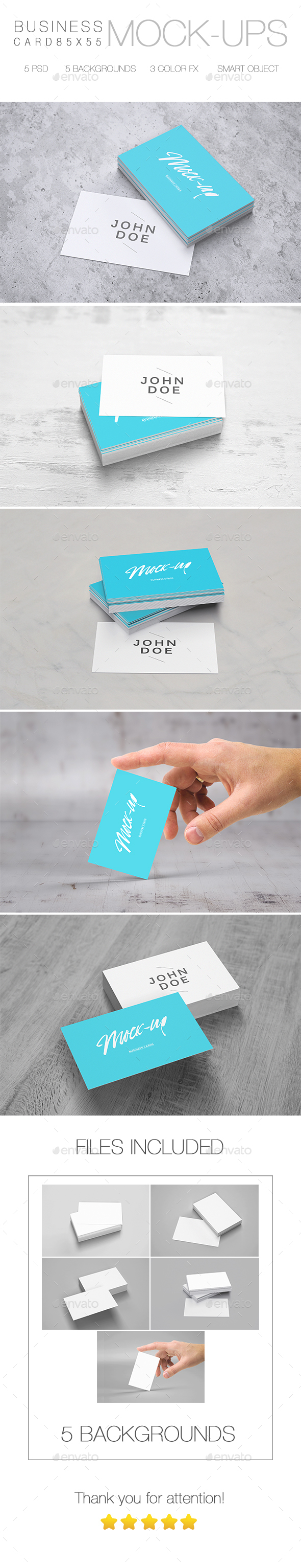 Business Card Mockup 85 x 55 - Business Cards Print