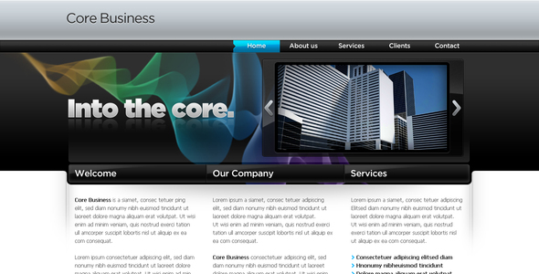 Business Template #04 - Corporate PSD Templates