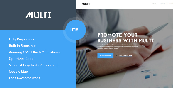 Multi – Friendly Multi-Purpose HTML Template