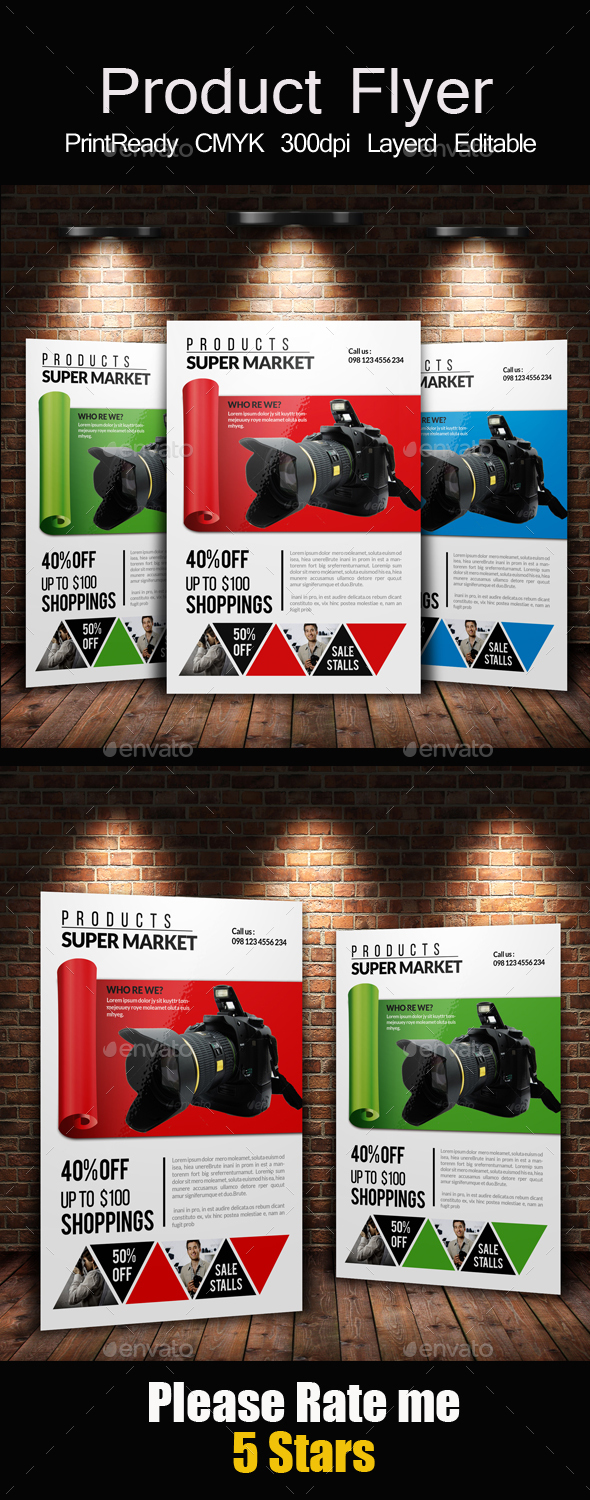 Product Promotion Flyer & Ad - Corporate Flyers