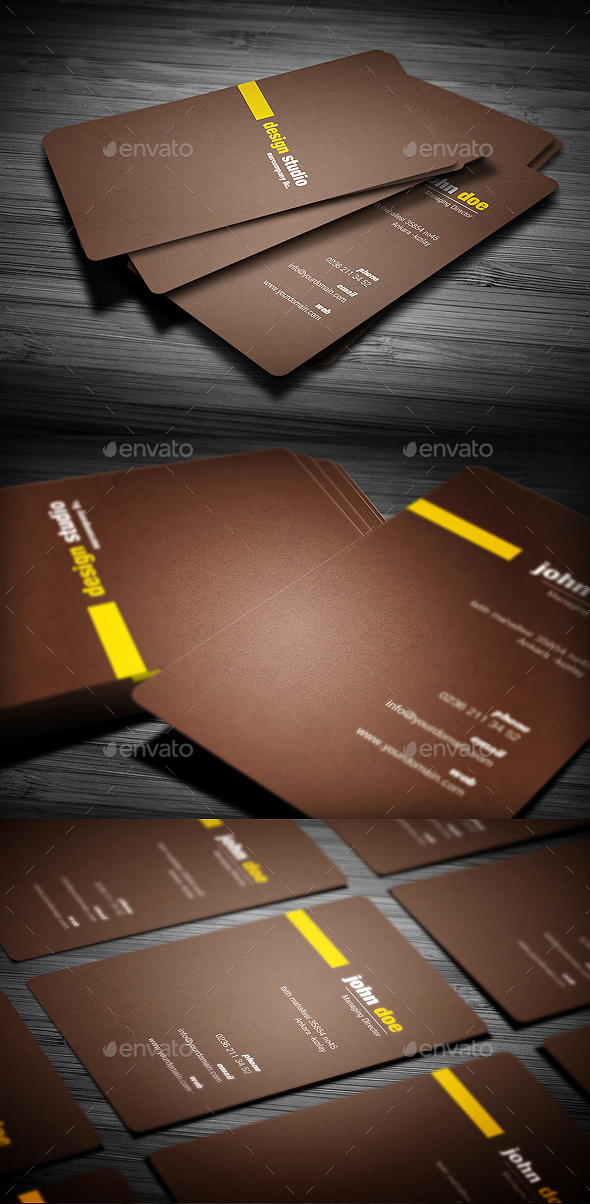 Brown Creative Business Card - Creative Business Cards