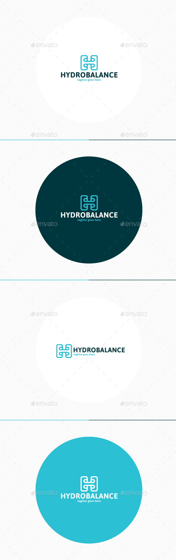Hydro Balance Logo - Letters Logo Templates
