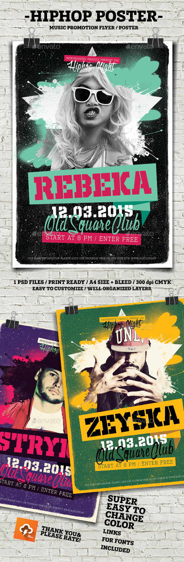 HipHop Flyer Poster - Flyers Print Templates