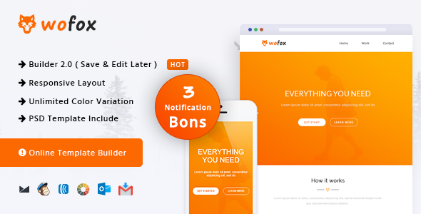 Wofox – Responsive Email Template + Online Builder