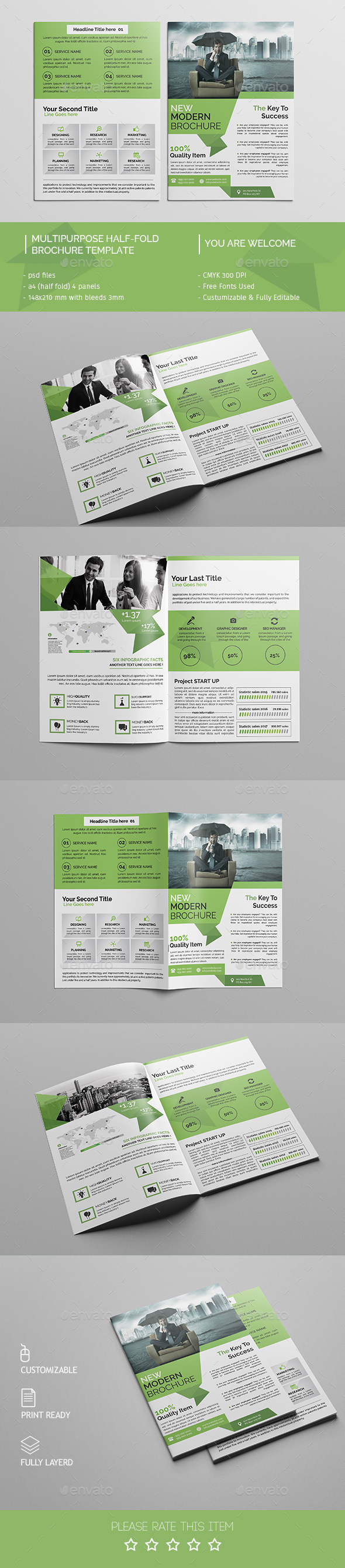 Corporate Bi-fold Brochure Template 09 - Corporate Brochures