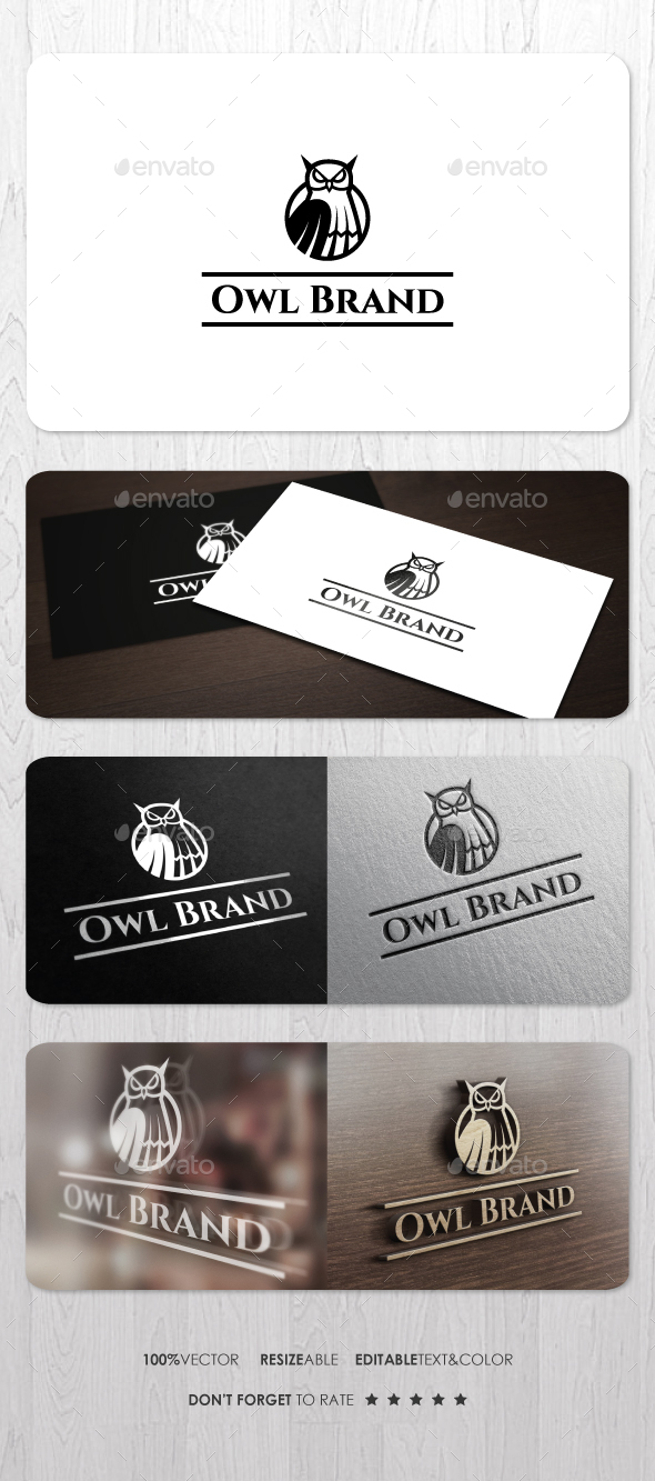 Owl Brand Logo - Animals Logo Templates