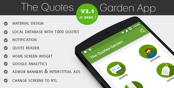 The Quotes Garden v3.1 - CodeCanyon Item for Sale