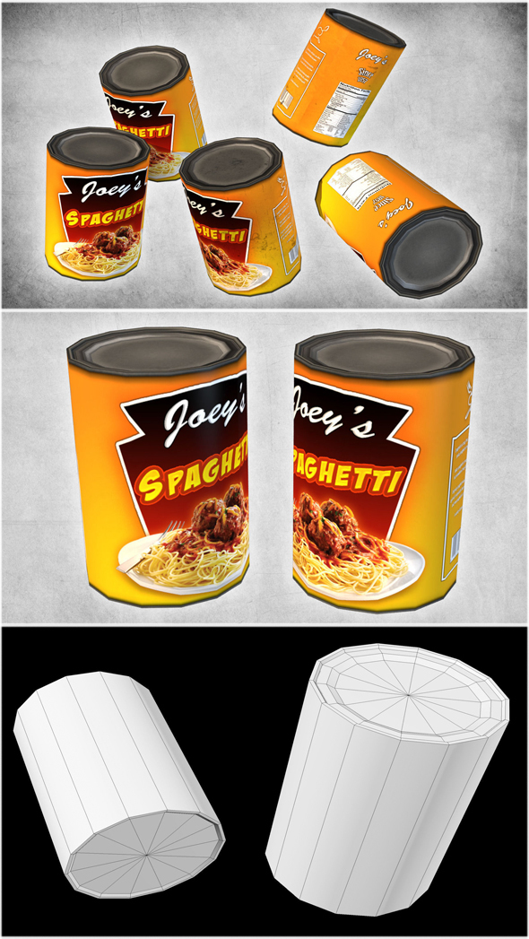Canned Spaghetti - 3DOcean Item for Sale