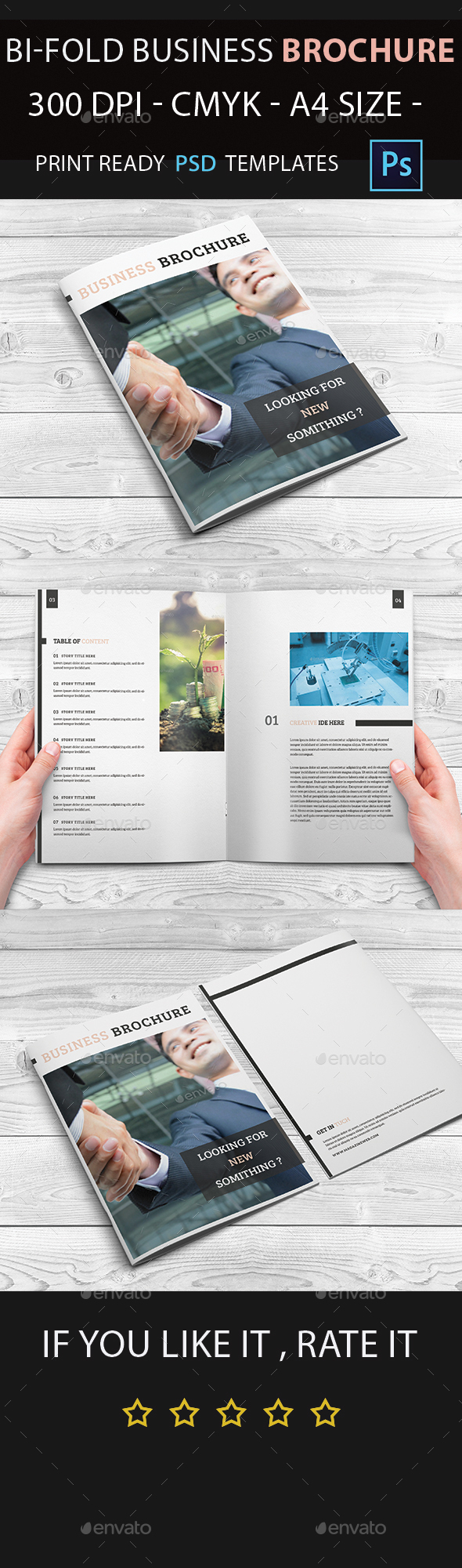Corporate Business Bifold Brochure Template - Corporate Brochures