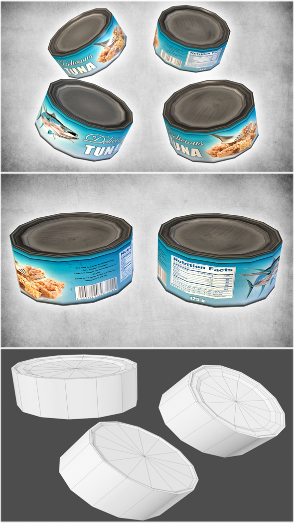 Canned Tuna - 3DOcean Item for Sale