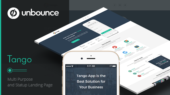 Tango - Multi-Purpose Unbounce Landing Page
