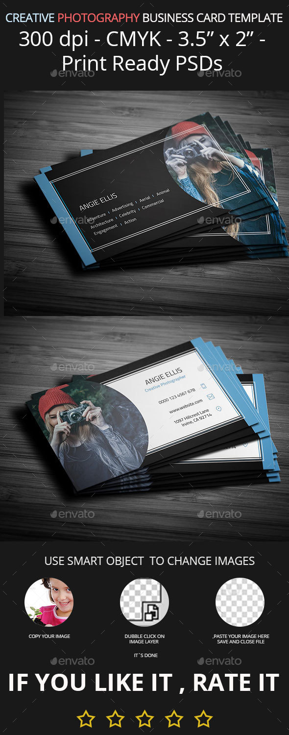 Creative Photography Business Card Template - Creative Business Cards