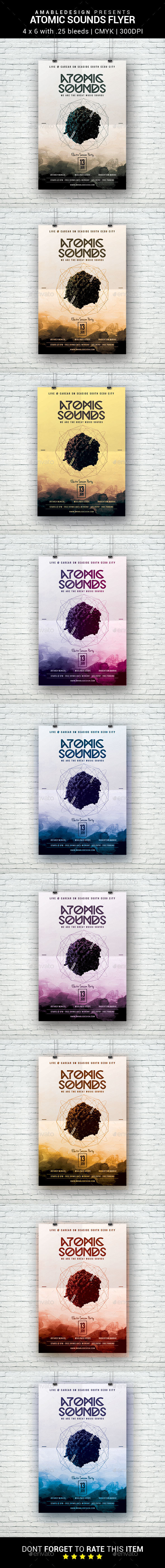 Atomic Sounds Flyer - Clubs & Parties Events