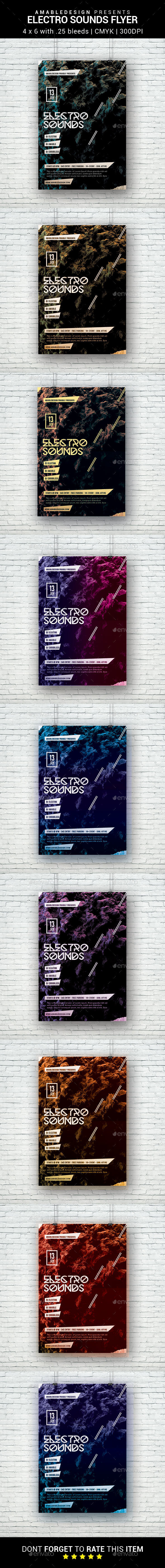 Electro Sounds Flyer - Clubs & Parties Events