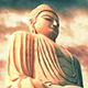 Buddha Statue At Sunset With Amazing Colors - VideoHive Item for Sale