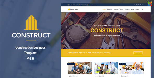 Construct – Joomla Construction & Business Template