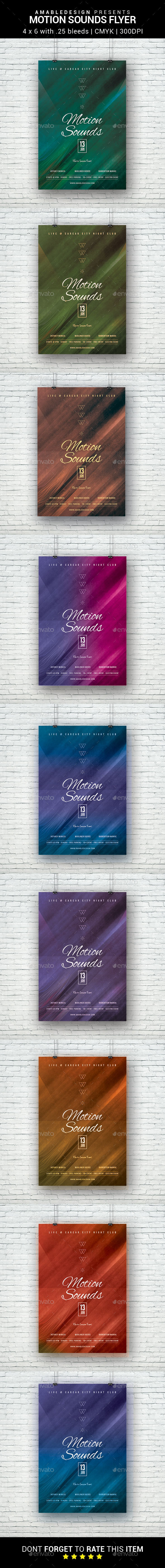 Motion Sounds Flyer - Clubs & Parties Events