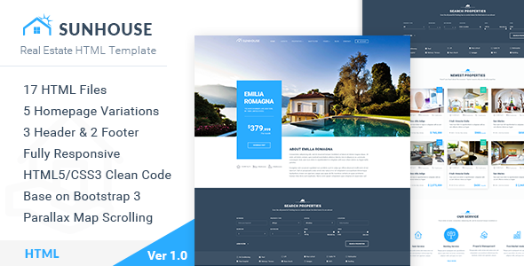 SunHouse - Real Estate HTML Template
