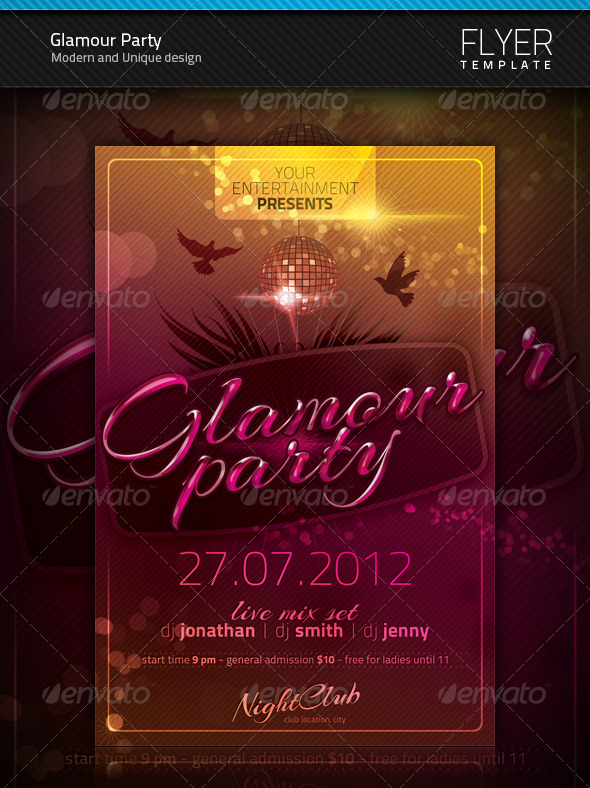 Glamour Party Flyer - Clubs & Parties Events