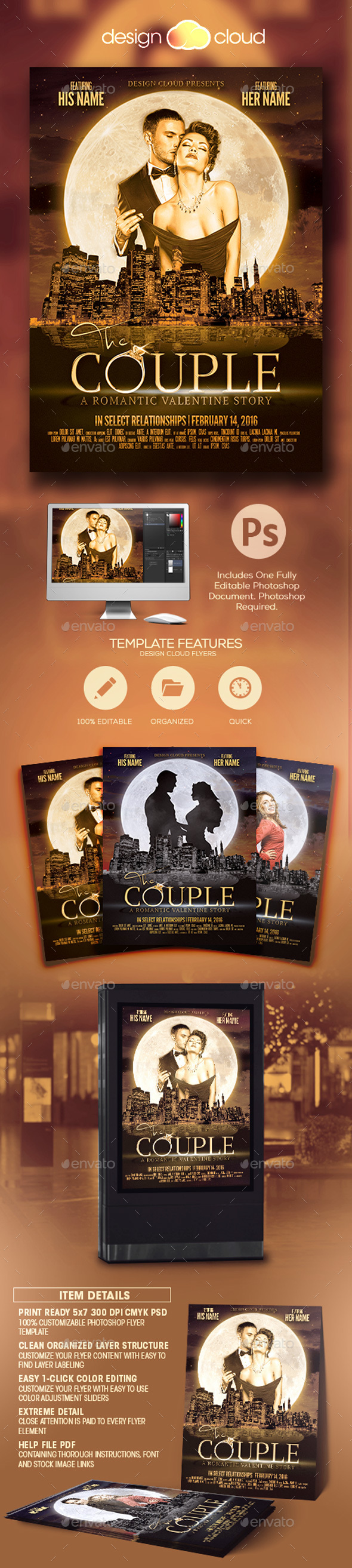 The Couple - Valentine Flyer Template - Holidays Events